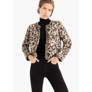 J.Crew NWT Quilted Lady Cheetah Jacket✨